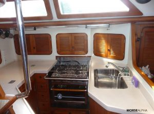 Morse Alpha Learn To Sail - galley Norseman 447 Rocinante