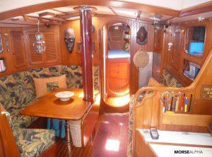Morse Alpha sail training - Norseman 447 Rocinante salon