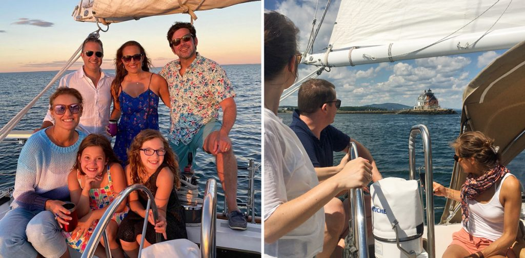 Daysail from Rockland Maine in Penobscot Bay. Sailing trips are COVID friendly.